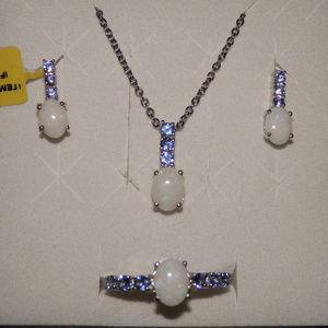 Austral White Opal & Tanzanite Set NWT